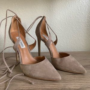 Steve Madden Nude  lace up pointy heels size 7